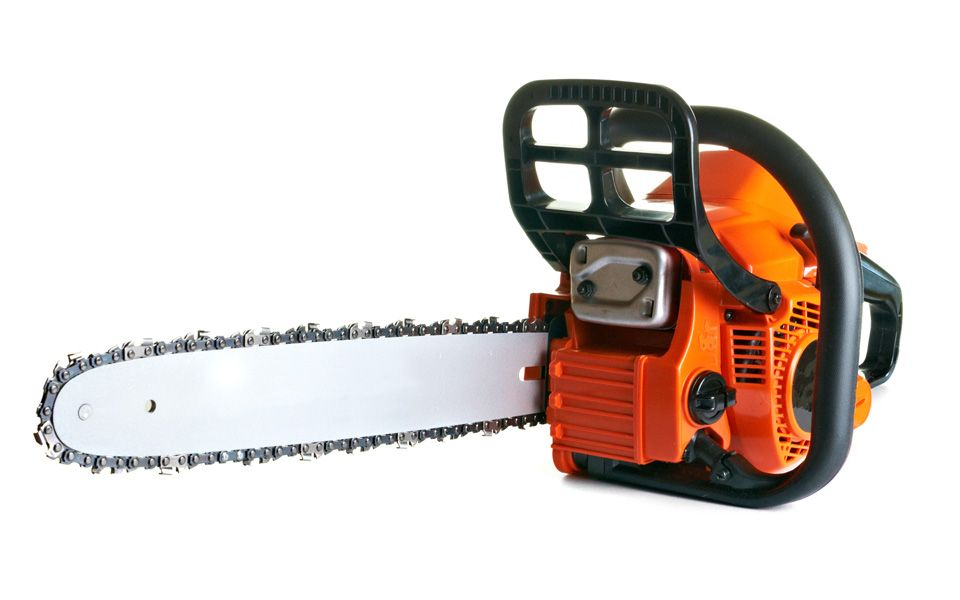 Red chainsaw
